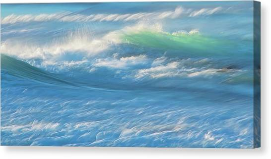 Light Wave At Asilomar, Pacific Grove, California Canvas Print