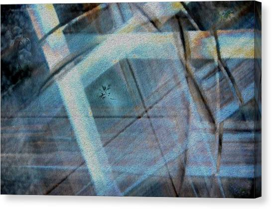 Light Wave Rust Canvas Print