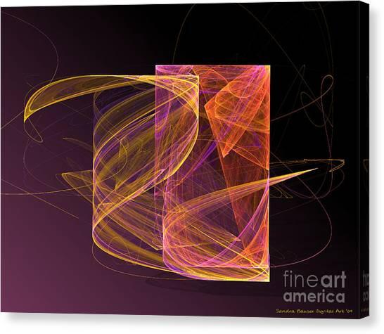Canvas Print featuring the digital art Lightbox by Sandra Bauser Digital Art