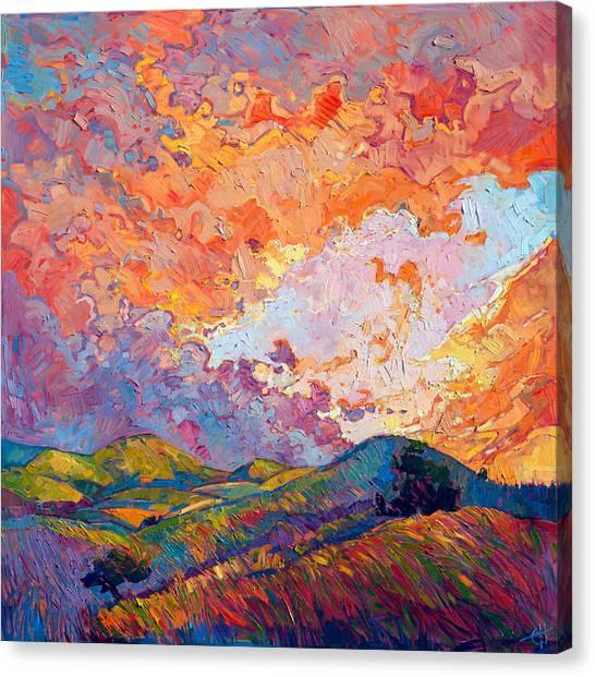 Lighted Sky Canvas Print