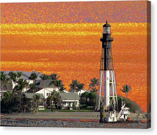 Canvas Print featuring the photograph Lighthouse 1010 by Corinne Carroll