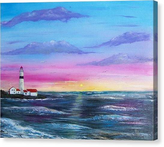 Lighthouse  5 Canvas Print by Tony Rodriguez