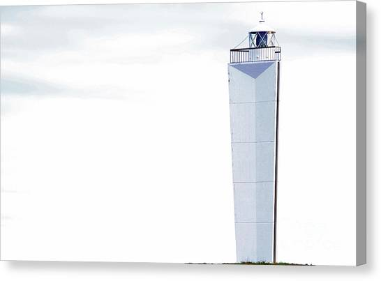 Canvas Print featuring the photograph Lighthouse At Cape Jervis by Stephen Mitchell