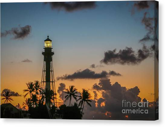 Canvas Print featuring the photograph Lighthouse At Dawn #1 by Tom Claud