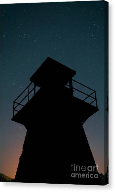 Prince Edward Island Canvas Print - Lighthouse At Night Prince Edward Island by Edward Fielding