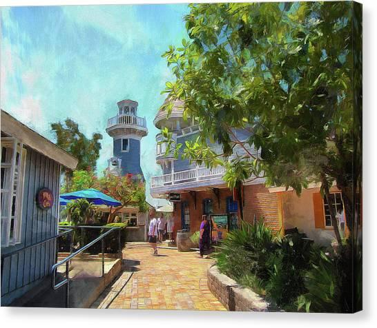 Lighthouse At Seaport Village Canvas Print