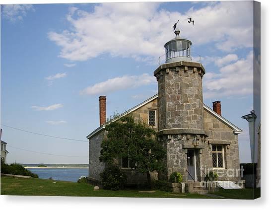 Lighthouse At Stonington Ct Canvas Print
