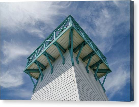 Canvas Print featuring the photograph Lighthouse At Summerside Seaside Market. by Rob Huntley