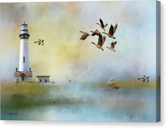Lighthouse Bay Canvas Print