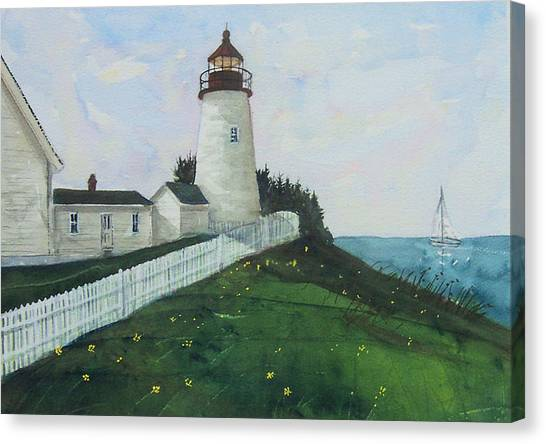 Lighthouse Calm Canvas Print