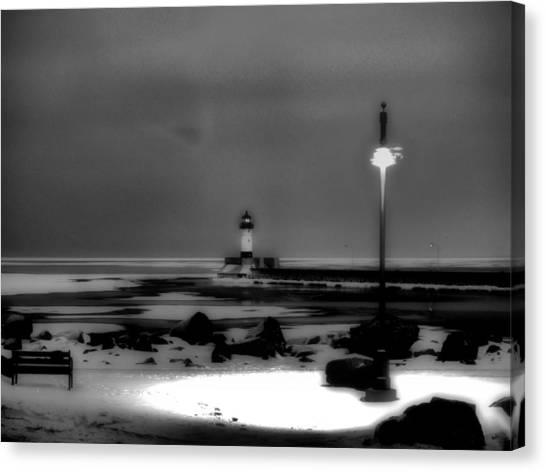 Lighthouse Canal Park Canvas Print