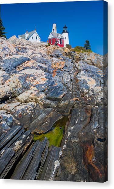 Jordan Canvas Print - Lighthouse  by Emmanuel Panagiotakis