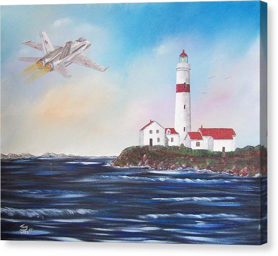 Lighthouse Fly By Canvas Print by Tony Rodriguez