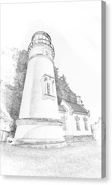 Lighthouse In Oregon Canvas Print