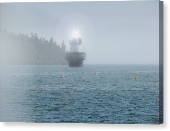 Atlantic 10 Canvas Print - Lighthouse In The Fog by Kay Brewer