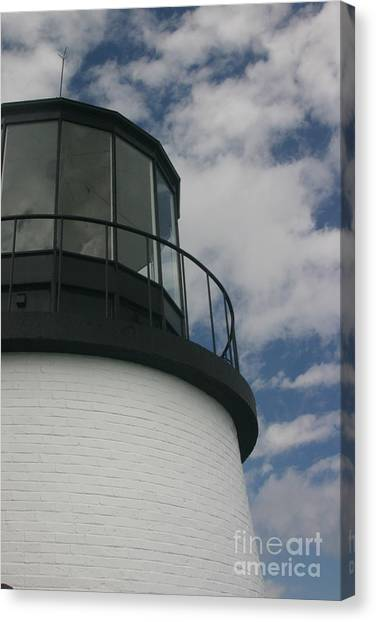 Lighthouse In The Sky Canvas Print by Dennis Curry