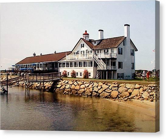 Lighthouse Inn At Bass River Canvas Print by Frederic Kohli