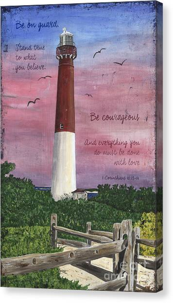 Seagulls Canvas Print - Lighthouse Inspirational by Debbie DeWitt