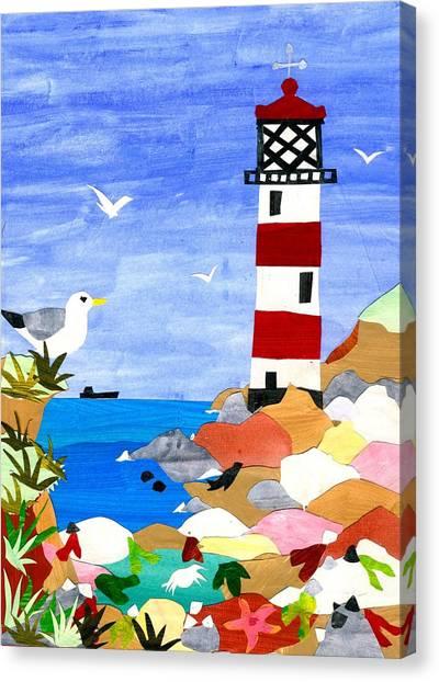 Lighthouse Canvas Print by Judy Adamson
