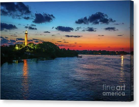 Lighthouse Light Beam Canvas Print