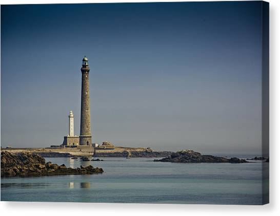 Sundown Canvas Print - Lighthouse by Nailia Schwarz