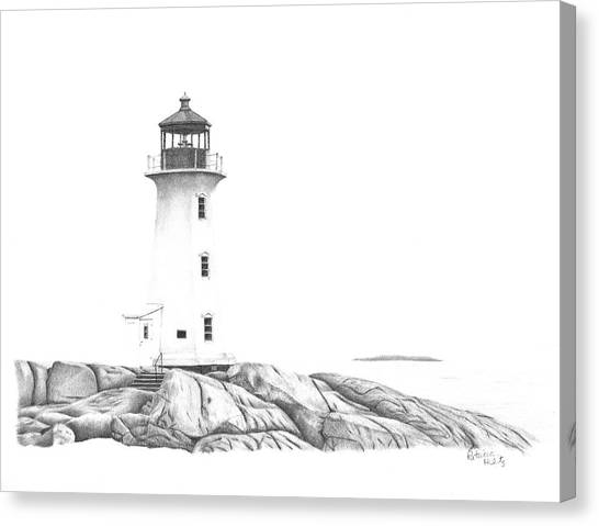 Lighthouse Of Peggy's Cove Canvas Print