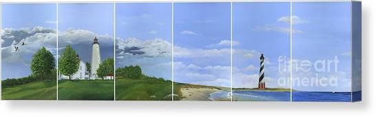 Lighthouse Panels Canvas Print