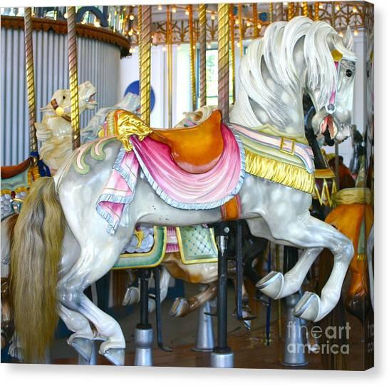 Lighthouse Park Carousel D Canvas Print