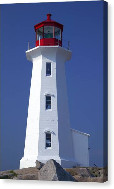 Nova Scotia Canvas Print - Lighthouse Peggy's Cove by Garry Gay
