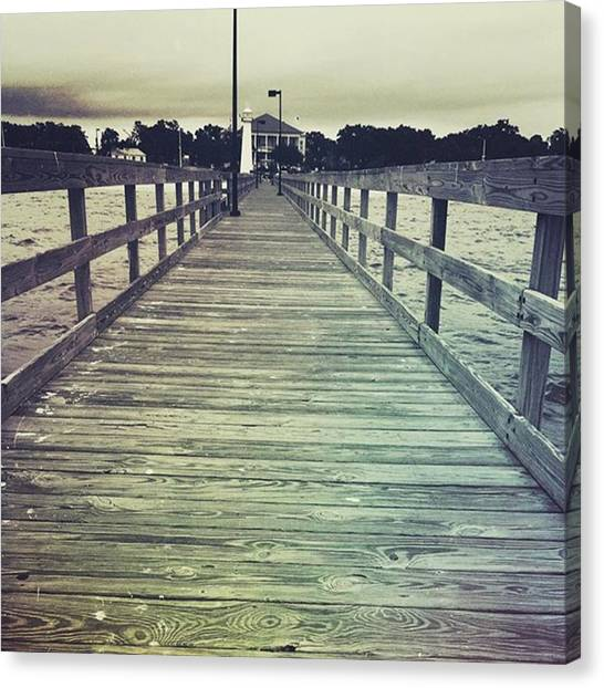 Lighthouses Canvas Print - Lighthouse Pier #lighthouse #pier by Joan McCool