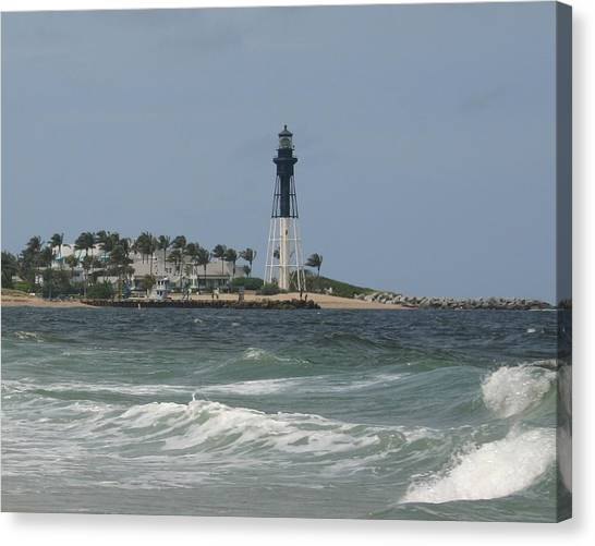 Lighthouse Point Fl. Canvas Print by Dennis Curry