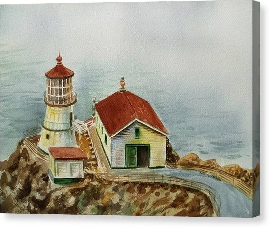 Irina Canvas Print - Lighthouse Point Reyes California by Irina Sztukowski