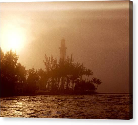 Lighthouse Point Sunrise Canvas Print