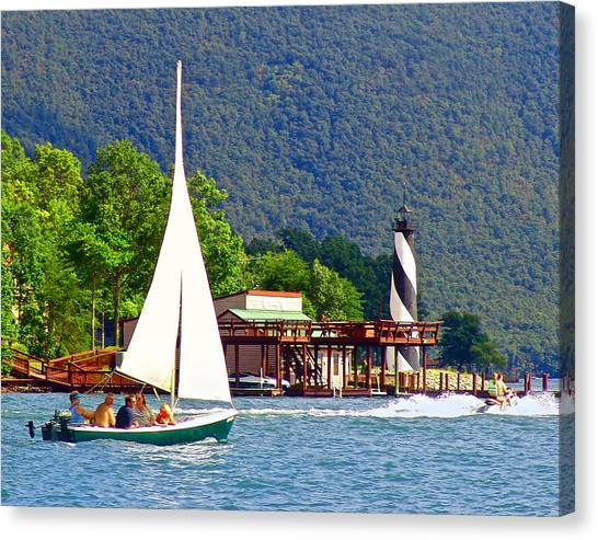 Lighthouse Sailors Smith Mountain Lake Canvas Print