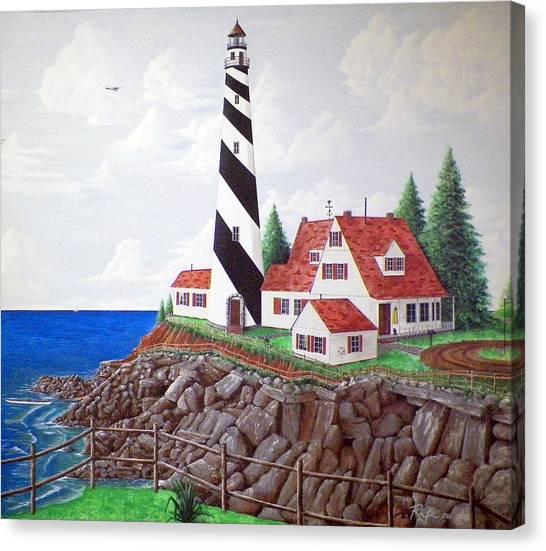 Drywall Canvas Print - Lighthouse Scene by RB McGrath