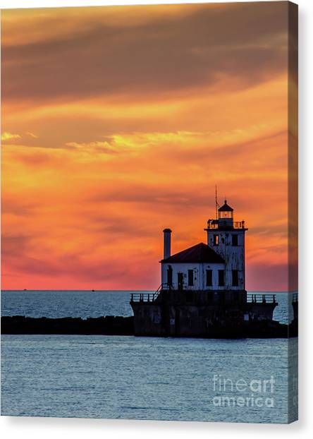 Lighthouse Silhouette Canvas Print