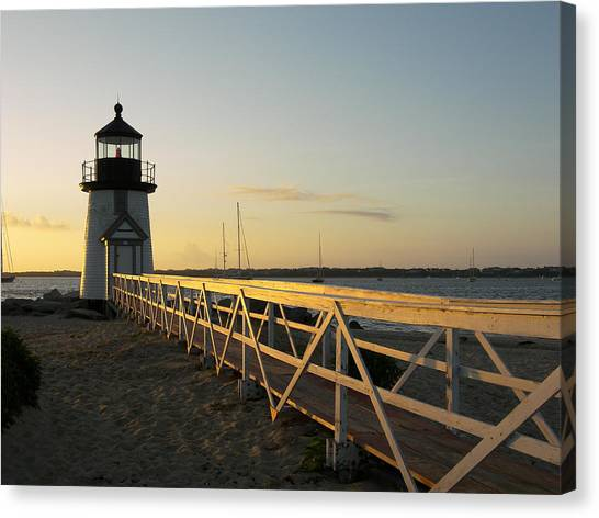 Lighthouse Sunrise Canvas Print by Mark Siciliano