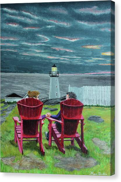 Lighthouse Lovers Canvas Print