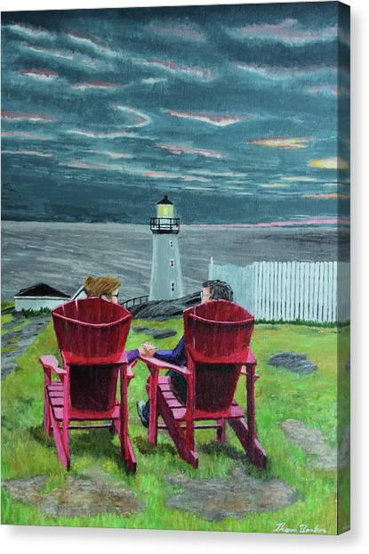 Lighthouse Lovers Canvas Print