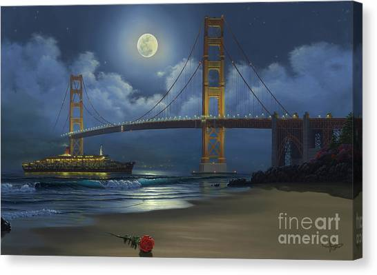 Queen Elizabeth Canvas Print - Lighting The Way Home by Al Hogue