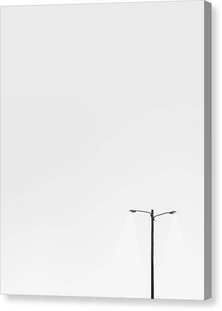 Street Lamp Canvas Print - Lighting The Way by Scott Norris