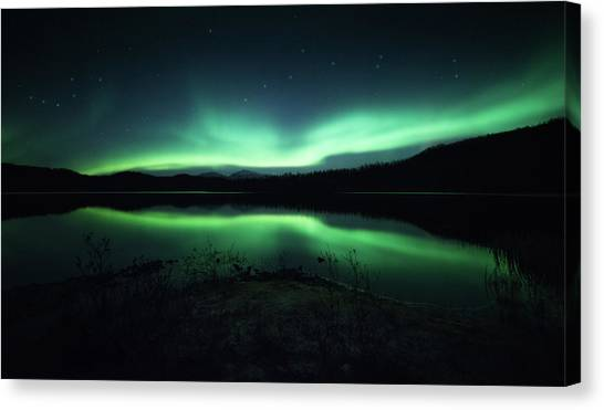 Aurora Borealis Canvas Print - Lighting Up The Dark by Tor-Ivar Naess