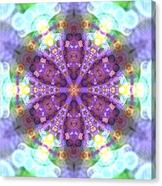 Canvas Print featuring the digital art Lightmandala 6 Star 2 by Robert Thalmeier