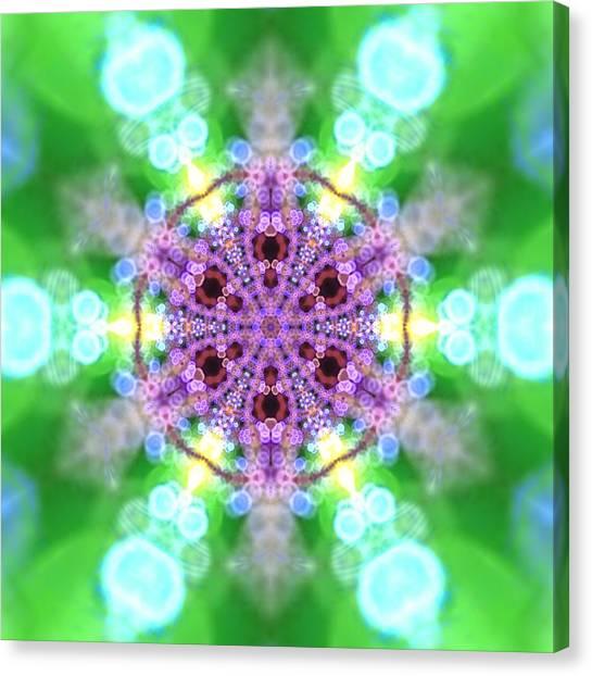 Canvas Print featuring the digital art Lightmandala 6 Star 3 by Robert Thalmeier