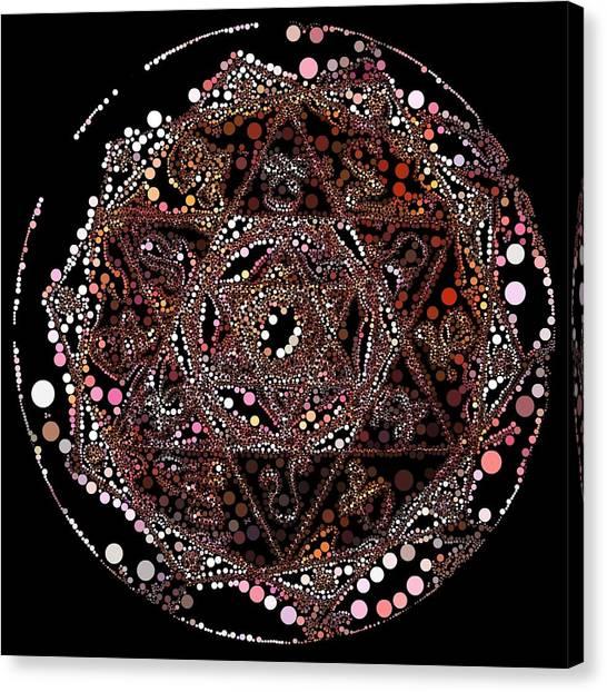 Canvas Print featuring the digital art Lightmandala 6 Star Morph 4 by Robert Thalmeier