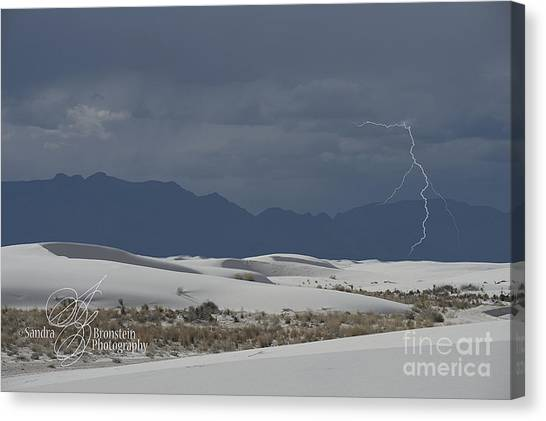 Missles Canvas Print - Lightning At White Sands National Monument by Sandra Bronstein