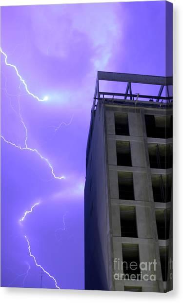 Lightning On Rivadavia 2 Canvas Print