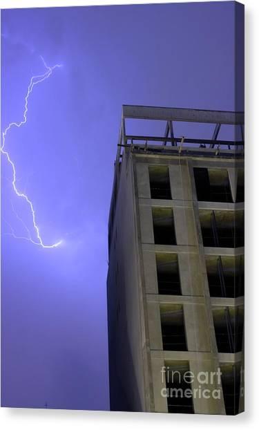 Lightning On Rivadavia Canvas Print