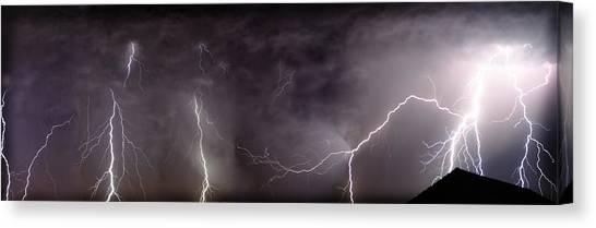 Lightning Over Perris Canvas Print