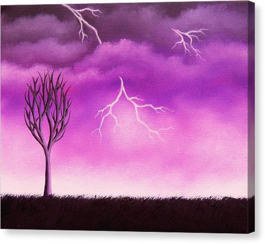 Thunderclouds Canvas Print - Lightning Scars by Rachel Bingaman